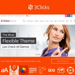 3Clicks | Responsive Multi-Purpose WordPress Theme