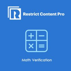 Restrict Content Pro Math Verification
