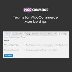 Teams for WooCommerce Memberships