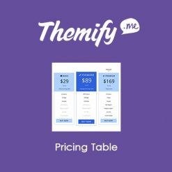 Themify Builder Pricing Table