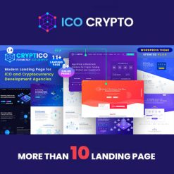 Cryptico - ICO Crypto Landing & Cryptocurrency WordPress Theme​
