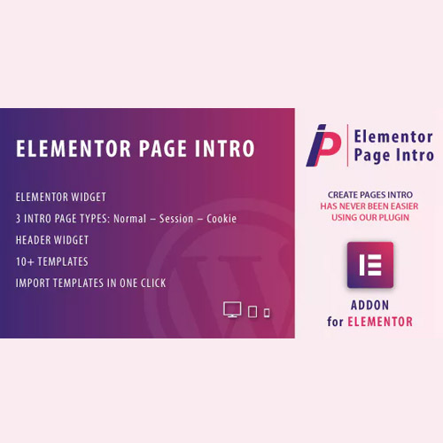 Page Intro for Elementor WordPress Plugin