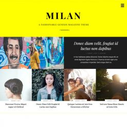 StudioPress Milan Pro Genesis WordPress Theme