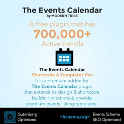 The Events Calendar Shortcode and Templates Pro - WordPress Plugin