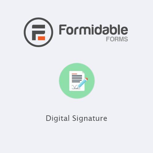 Formidable Forms - Digital Signature
