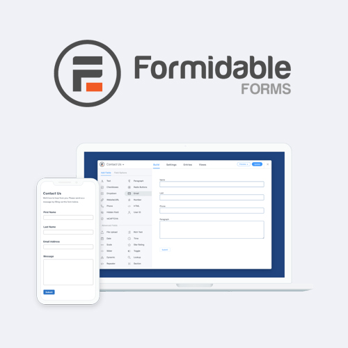 Formidable Forms Pro - WordPress Form Builder Plugin