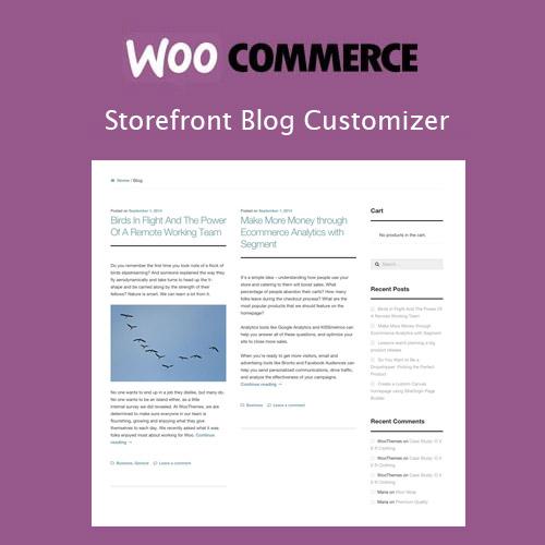 Storefront Blog Customiser