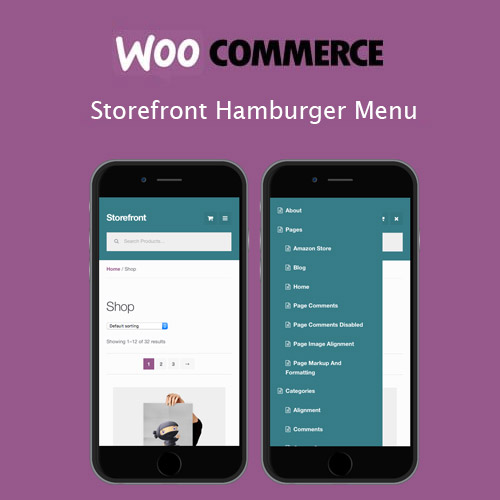 Storefront Hamburger Menu