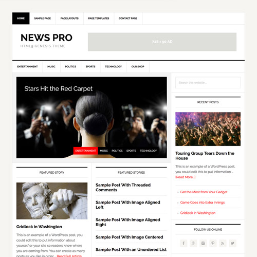 StudioPress News Pro Genesis WordPress Theme,