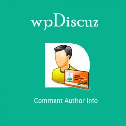 wpDiscuz - Comment Author Info