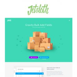 Jetsloth - Gravity Forms Bulk Add Fields