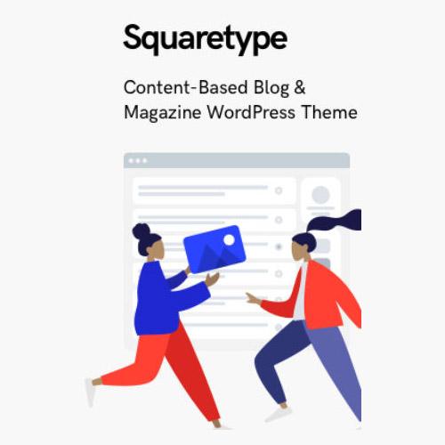 Squaretype - Modern Blog WordPress Theme,