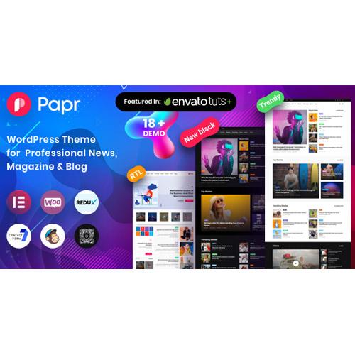 Papr News Magazine – News Magazine WordPress Theme